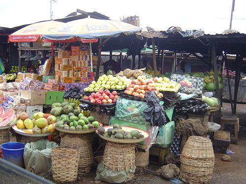 wares in the market