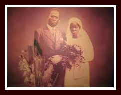 Wedding picture of Hanna and Obafemi Awolowo