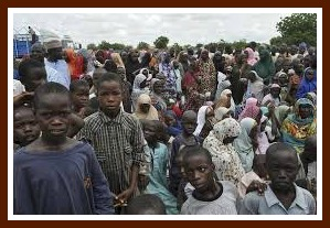 Displaced persons, showing Nigeria in Need, from NIgeria's Daily Post